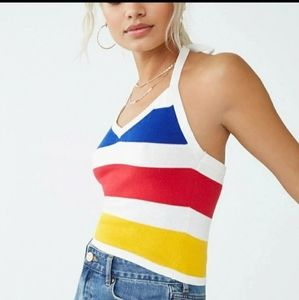 Red Yellow Blue Striped Top